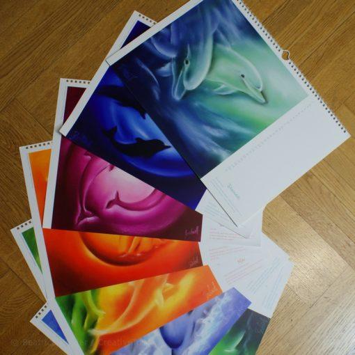 diverse Farben Delphinbilder